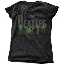 The Beatles Women's Saville Row Line Up Black Snow Wash T-shirt - $24.59