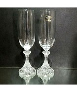 "2 (Two) VINTAGE MIKASA Crystal ""The Ritz"" Champagne Flutes Height: 8 1/2"" - $17.09"