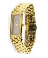 Wittnauer Diamond Gold Plated Rectangle Dial Watch for Women 6 1/2 Inche... - $215.60
