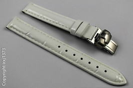 White glossy leather Watchband strap for women's Tissot L750/850 T033210... - $43.56