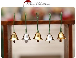 10Pcs Gold Jingle Bell For Christmas Tree Hanging Pendant Accessories De... - $4.99