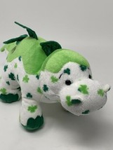 Webkinz Plush Lucky Dino 11in Shamrock Dinosaur HM712 Ganz Stuffed Toy N... - $7.92