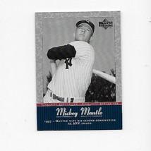 2001 UPPER DECK MICKEY MANTLE YANKEES INSERT # MM26 - $0.99