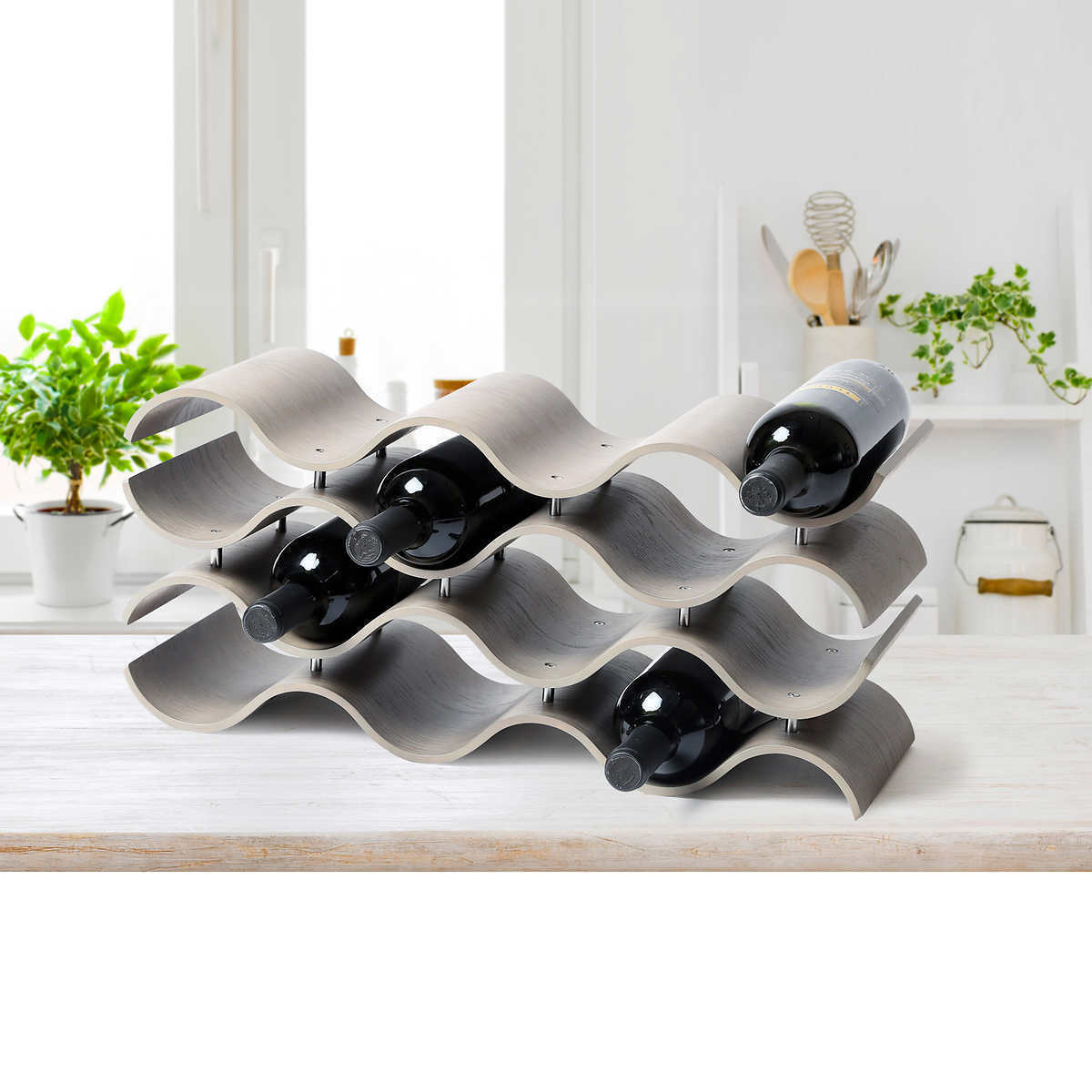 Primary image for NEW Seville Classics 12-bottle Ashwood Wine Rack **FREE SHIPPING**