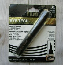 Milani Eye Tech Liquid Eyeliner  Black  Long Lasting Eyeliner Liquid Pen   - $3.43