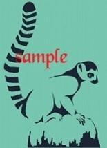 Lemur Single Colour PDF Cross Stitch Chart - $8.00