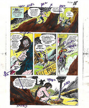 1975 Kamandi/Apes Brave and the Bold 120 DC Comics color guide art: Plan... - $39.99