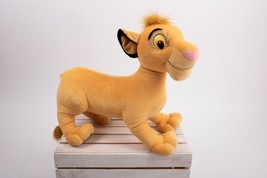 "Disney Hasbro 17"" Simba Plush Stuffed Animal The Lion King 2002 Jumbo Cub  - $29.69"