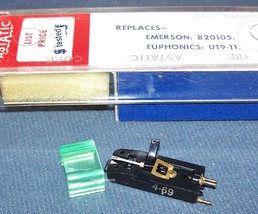 ASTATIC 741d Euphonics U19-11 PHONOGRAPH CARTRIDGE NEEDLE Emerson 820105 image 2
