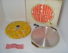 Vintage Salton Automatic Hot Pizza Keeper Warming Tray Party Platter Ser... - $42.52