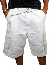 Levi's Men's Premium Cotton Cargo Shorts With Belt Relaxed Fit White 13581-0009 image 2
