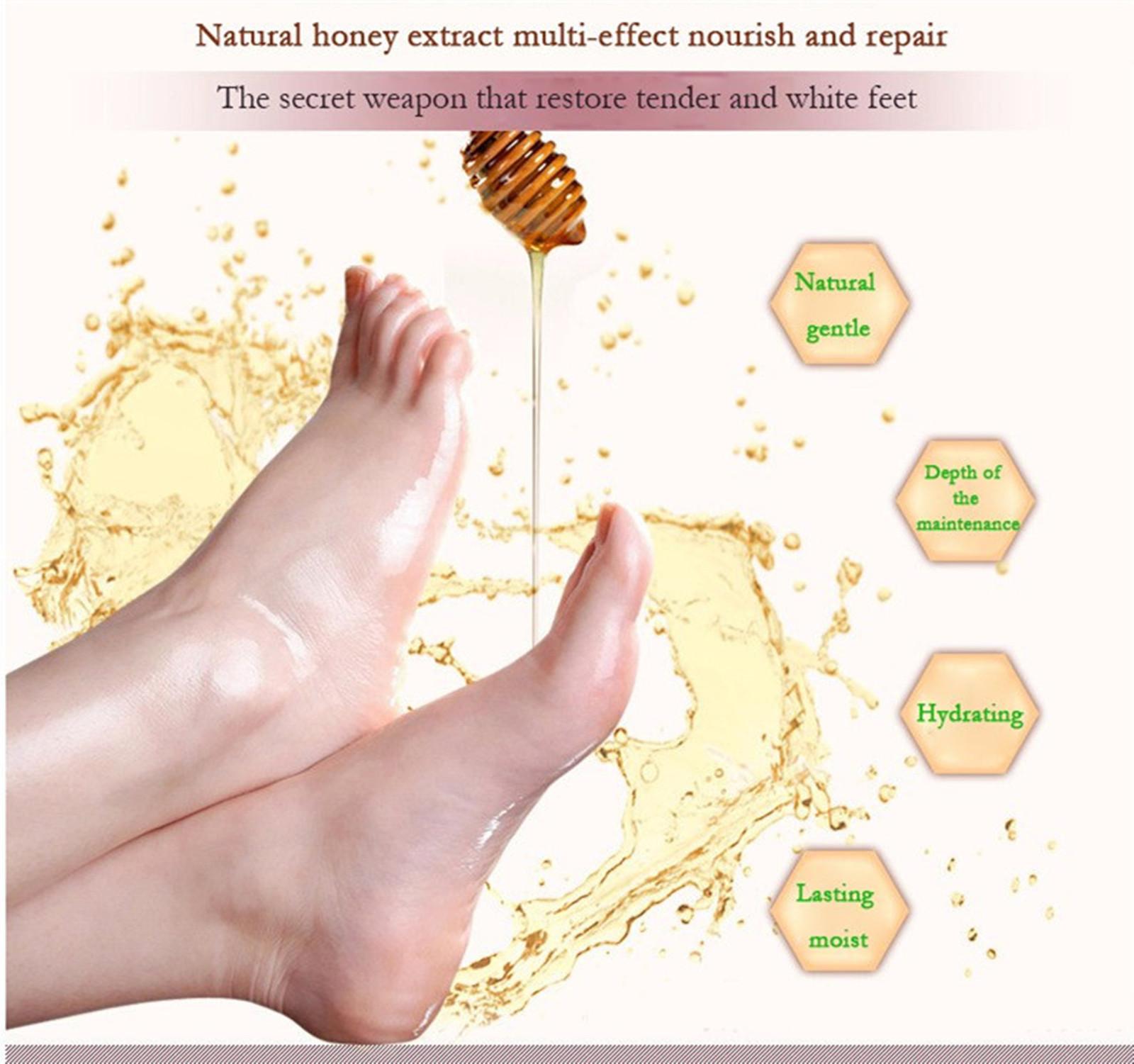 Honey Whitening Smooth Nourishing Exfoliate Foot Mask