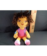 "DORA THE EXPLORER WITH CRAZY HAIR Backpack PLUSH STUFFED TOY DOLL 8"" TY - $9.40"