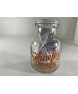 Vintage Half Pint Schaefer Dairy Co. Milk Bottle Glass Advertisement  - $29.69