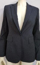 Express Charcoal Gray sigle breasted Suit Blazer jacket sz 2 - $11.83