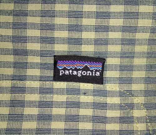 Patagonia Men's Green L short-sleeve button-down checkered Breast Pocket shirt image 2