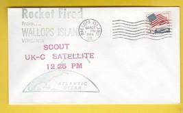 SCOUT UK-C SATELLITE ROCKET FIRED WALLOPS ISLAND VA MARCH 27 1964 - $2.68