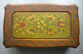 "70s Reuge Wooden Music Jewelry Box Plays Song ""Lily Marleen""  Lili Marlene  - $49.00"