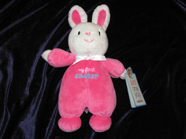 JUST ONE YOU MY FIRST EASTER HOT PINK WHITE BUNNY RABBIT STUFFED PLUSH R... - $27.71