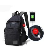 BDF Men USB backpack bag retro black/grey laptop bag 13-15'' notebook La... - $51.59