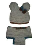 Newborns Crochet Set (Hat & Booties)/Beige - $25.00