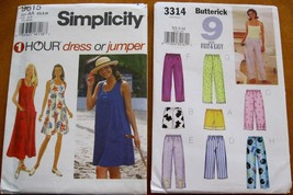 3314 9615 lot 2 sewing pattern easy Dress  Jumper top shorts pants Miss ... - $10.00
