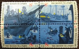 Four MNH 1973 U.S. Stamps The Boston Tea Party - $1.99