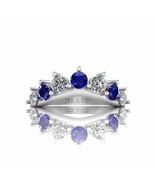 Jbr Crown Style V Shape Sterling Silver Band - $66.69