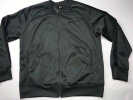 Mitre Full Zip Windbreaker Mens Jacket Sz M Track Soccer Warmup Gray Black - $19.05
