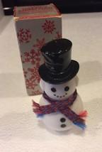 "Vintage Avon Dapper Snowman Bottle Sweet Honesty Cologne 1 oz 3"" Tall - $3.83"
