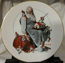 """Norman Rockwell 1979 Christmas  Plate """"Santa's Helpers"""" Gorham Fine China - $19.99"""
