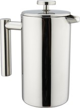 Stainless Steel French Coffee Press Double Wall 8 Cup Pot Plunger Cafeti... - £30.86 GBP