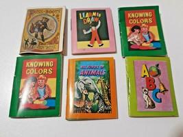 Vintage Lot of Six Treasure Hour Miniature Books Shackman Series Puss in... - $14.99