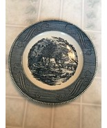 """Vintage Royal Ironstone Currier and Ives 10"""" Dinner Plate  The Old Grist... - $17.60"""