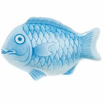 Blue 16 Inch Fish Shape Melamine Platter/Set of 12 - $157.75