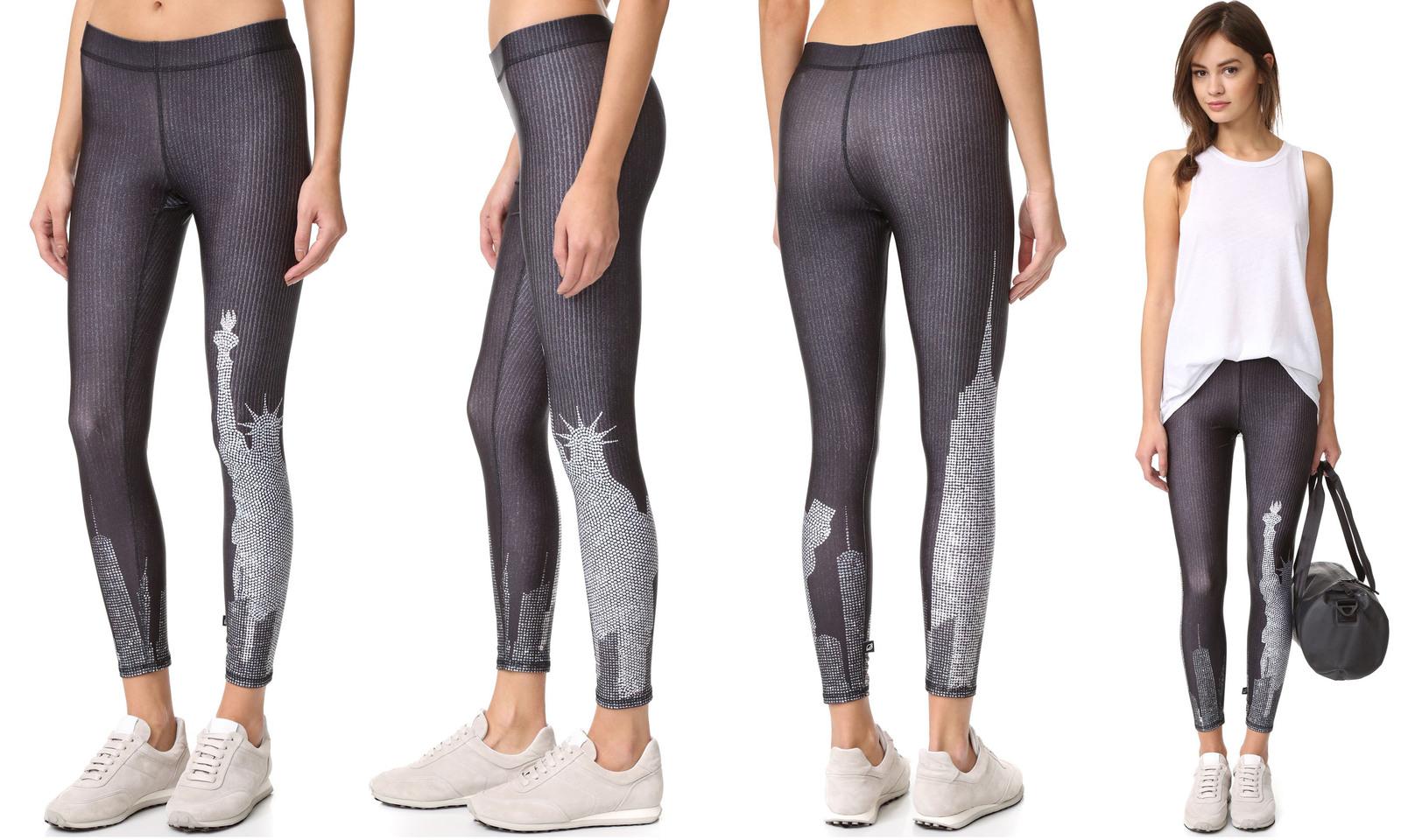 bca5adde93 Terez Women Crystal NY Skyline Performance Leggings- WM-ACT Activewear