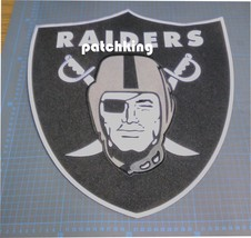 "OAKLAND RAIDERS FOOTBALL NFL SUPERBOWL 16"" HUGE PATCH EMBROIDERED JERSEY - $50.00"