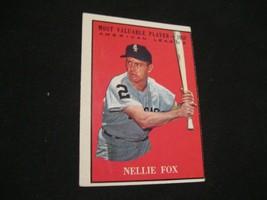 1961 Nellie Fox Topps #477 Baseball card - $19.79