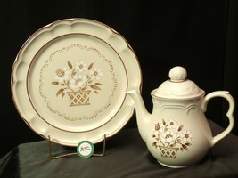 Cumberland Stoneware Mayblossom Pitcher with lid & Serving Tray AA-192035-F Vin image 2