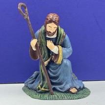 Thomas Kinkade nativity figurine Christmas hawthorne village Joseph sculpture 07 - $34.60