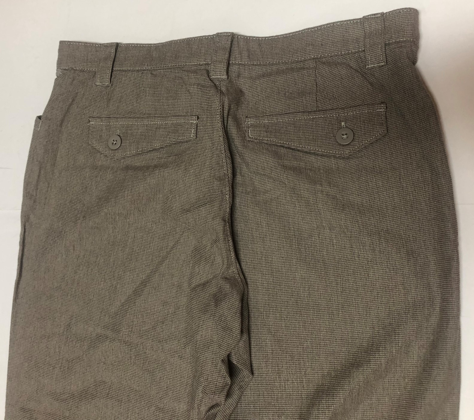 Lee Comfort Fit Casual Pants Women's Sz 14M Gray Small Plaid image 7