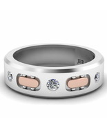 Jbr Two Tone Sport Style Sterling Silver Men's Band - $96.19
