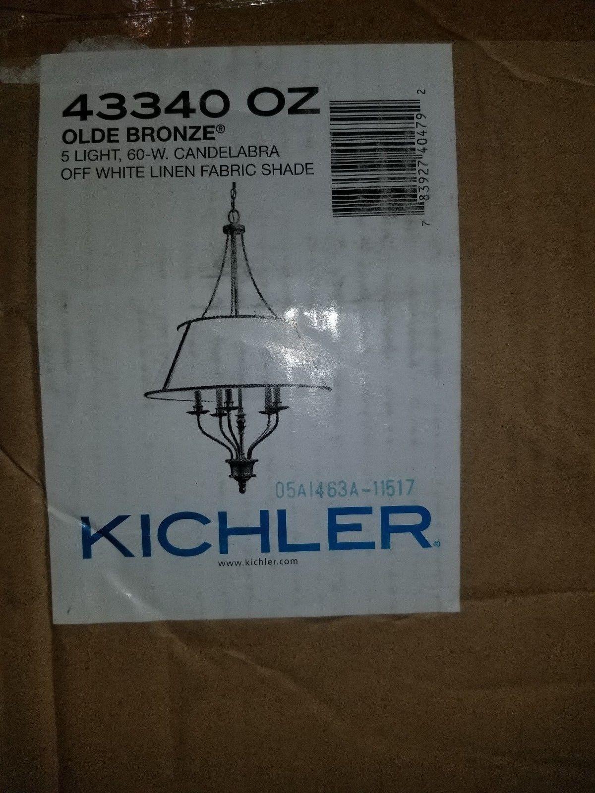 Kichler Lighting Donington 5 Light Chandelier in Olde Bronze 43340OZ - $287.10