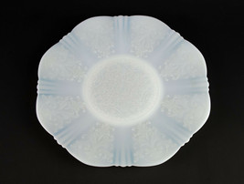 MacBeth Evans Monax Salver or Cake Plate, Vintage White Depression Glass... - $14.70