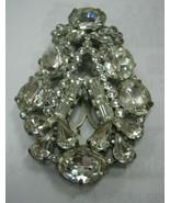 eisenberg original large dress clip with clear rhinestones - $163.35