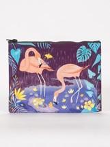 "Flamingo Blue-Q Standard Zipper Pouch New 7.25""h x 9.5""w Bird Fashion - $8.99"