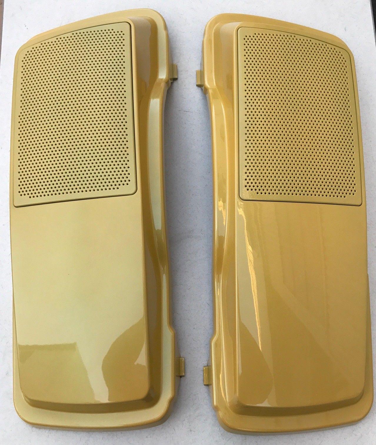 Yellow pearl  Speaker Lids Harley HD Street Glide Road King