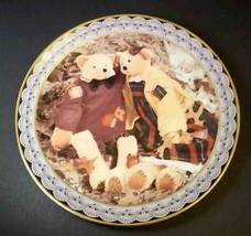 "Teddy Tompkins plate Harvest of Fun & Friendship Autumn Fall Enesco 1997 8.25"" - $12.43"