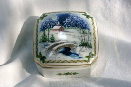 Heritage House 1987 Christmas Melodies Silent Night Musical Trinket Box - $11.77