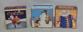 Mary Engelbreit Lot of 3 Small Christmas Boxes - $8.91